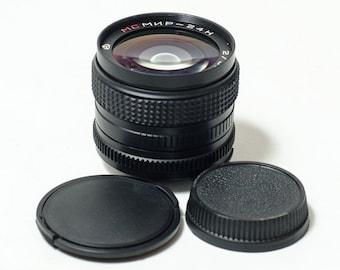 NEW! MC Mir-24N 24H 2/35 35mm f2 Soviet lens, Nikon, Nikkor, Kiev bayonet mount USSR lens.