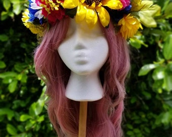 READY TO SHIP***Oversized Harvest Queen Flower Crown