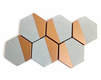 Hexagon Concrete Coasters home decor modern simple design cement