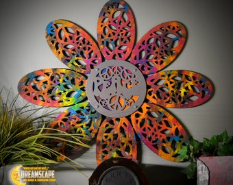 Wall Decor- Large Peace Flower Wall Art