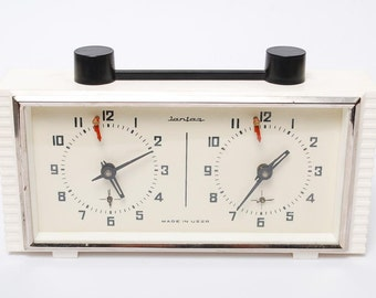 Sale 20% off vintage mechanical chess clock  from Soviet Union.