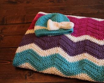 Baby blanket gift set, baby girl