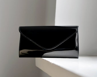 Small Black Clutch Purse, black clutch for women small black handbag black evening bag