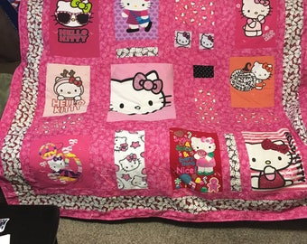 Hello Kitty T Shirt Memory Quilts