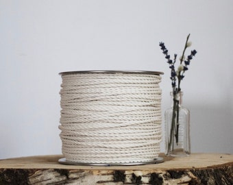 500 ft spool of 4mm 3 Strand Cotton Rope, Macrame  Rope, Macrame Cord, Cotton Rope, Macrame String