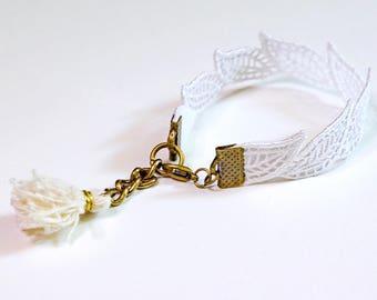 White lace bracelet | 100% handmade | limited series