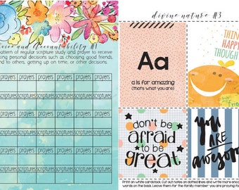 Personal Progress helpers, printable pages to help with longer personal progress experiences, Young Women, LDS, Mormon, TWO copies allowed