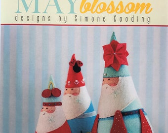 May Blossom-Jumbleberry Santas MB041 designs by Simone Gooding Pattern