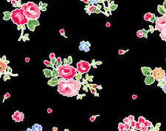 Love's Bouquet by Holly Holderman for LakeHouse Dry Goods, Fabric by the yard, LH12070 Black