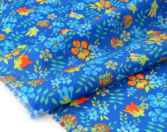 Liberty of London 74x137cm Edenham blue Orange fabric