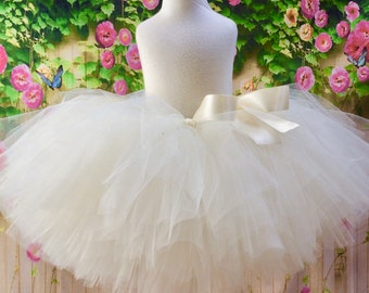 Ivory Tutu |  Winter White Tutu | Ivory Tulle Skirt | Flower Girl Tutu | Girls Tulle Skirt
