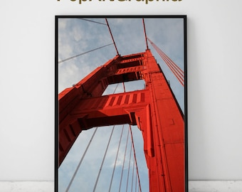 Golden gate bridge print,poster,home decor, San Francisco print, poster