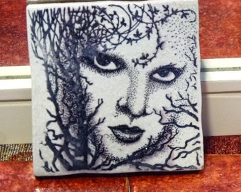 Stamped ceramic tile