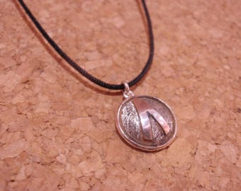 Sparta Shield Pendant, Silver Shield from Sparta,Spartan Shield Silver Pendant