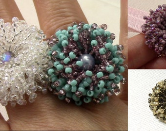 Coral Flower Ring PDF (Instant Download)