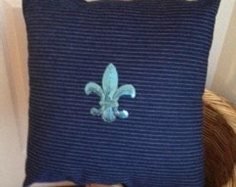 Fleur-de-lys pillow