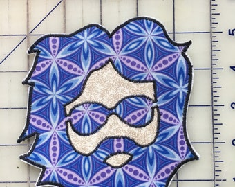 Grateful Dead Patch, Jerry Patch, Handmade Sew On Patch, 5 Inch Sew On Patch, OOAK Patch, Hippie Clothes,
