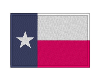 12 SIZES! Texas Flag Embroidery Design
