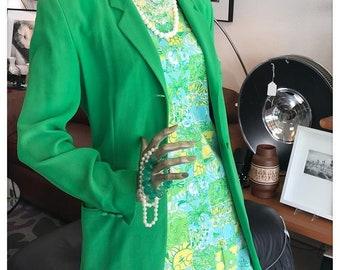 Vintage DKNY Green Blazer Jacket, Size 6