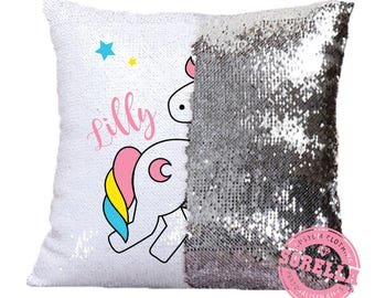 Magic Unicorn Print Cushion Cover