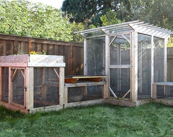 The Garden Run Complete Series Plan eBook (PDF), Modular Runs for Chicken Coop, Rabbit Hutch, or Catio – Instant Download, Imperial & Metric
