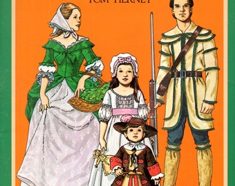American Family of the Colonial Era Paper Dolls Costumes in Full Color Book by Tom Tierney