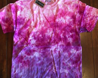 pink/ purple ombre crumple t