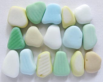 English Sea Glass - Milk Glass - Lot DC935