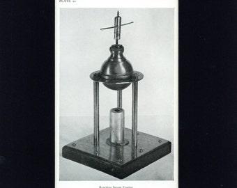 Vintage 1947 Book Print of Reaction Steam Engine Model