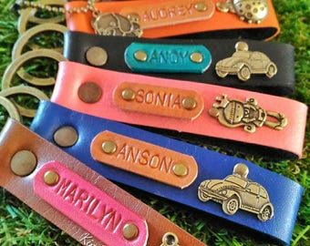 Personalized Keychains with Name & Charm