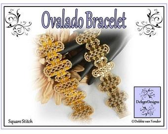 Beading Pattern, Tutorial, Bracelet - OVALADO