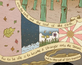 Kahlil Gibran quote art print - recycled paper