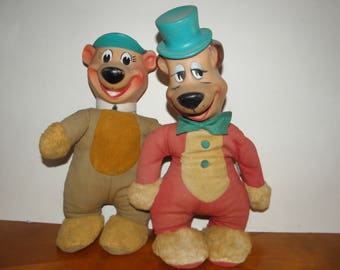 Yogi Bear/Huckleberry Hound 14inch Plush Toys