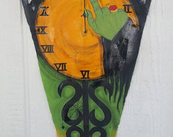 Unique Hand Painted Witching Hour Banner Vintage Style