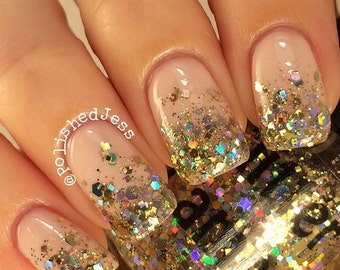 Million Dollar Gradient | Gold Holographic Glitter Nail Polish