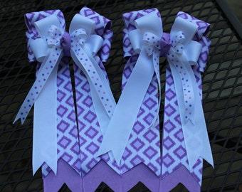Purple Ikat Horse Show Bows