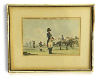 Antique Military Art. 19th Century Soldier Portrait Painting.