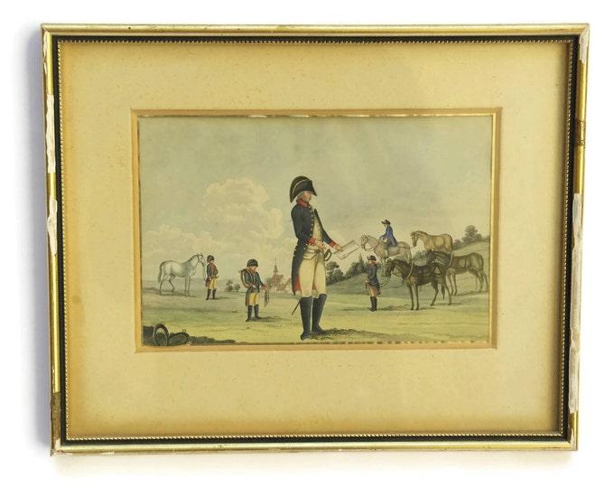 Antique Military Art. 19th Century Soldier Portrait Painting.