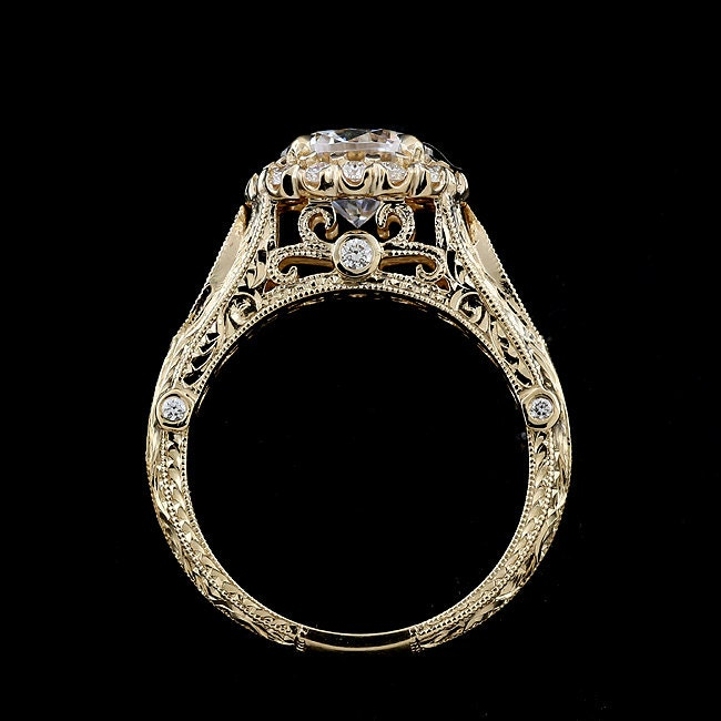 filigree ring filligree diamond engagement w rings