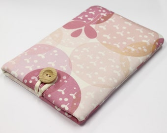 Spring Pink Sprouts Kindle Paperwhite Cover , Kindle Touch, Kindle Keyboard, Kindle 1 2 3, Cover Sleeve, Kobo case, Nexus sleeve, Nook cover