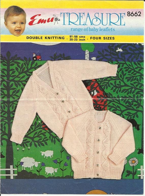 772de7800 PDF Emu Knitting Pattern 8662 8Ply   DK Sz20-23 Lace