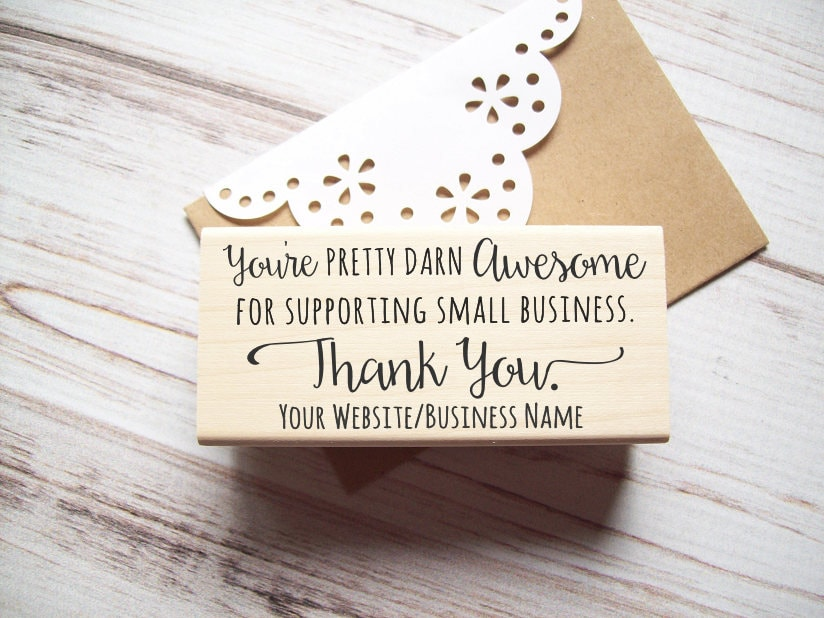 Thank you stamp with website address for small business custom thank you stamp with website address for small business custom business card stamp photographers independent artists etsy sellers reheart Choice Image