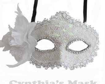 Cream Yellow Floral Mask w/Rhinestones and Glitter for Costume Masquerade Ball Dancing  SKU: BZ627G (7N21)
