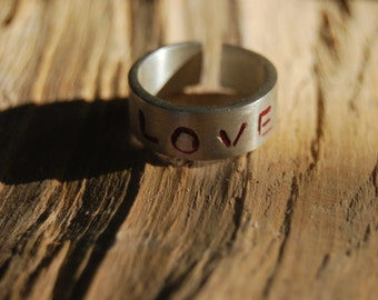 Love Ring - Sterling Silver Ring - Made to order