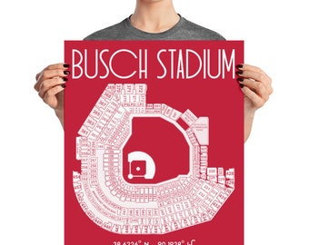 Busch Stadium St. Louis Cardinals Stadium Poster Print