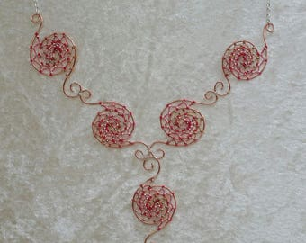"""Copper"" Collection necklace - pink"