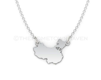 China necklace etsy china necklace china map necklace china pendant i heart china necklace aloadofball Image collections