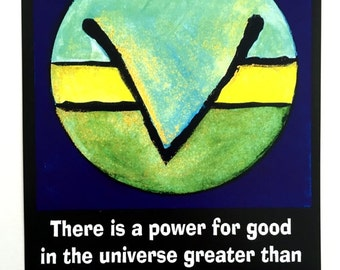 There is a Power For Good ERNEST HOLMES Inspirational Quote Science Mind Motivation Spiritual Meditation Heartful Art by Raphaella Vaisseau