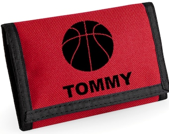 Personalised Basketeball Wallet  - *Choice of colours*