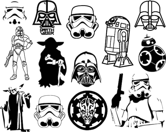 Star Wars Clipart Bundle Disney Star Wars Clip Art Starwars